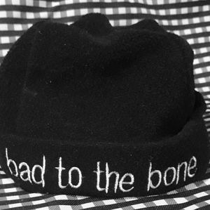 """Bad to the Bone"" Baby Fall Hat"